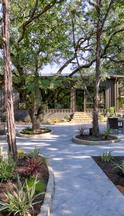 Outdoor xeriscape living space ideas