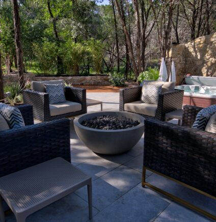 Outdoor seating and Hot Tub